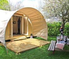 Camping Du Pouldu : location coco suite exterieur