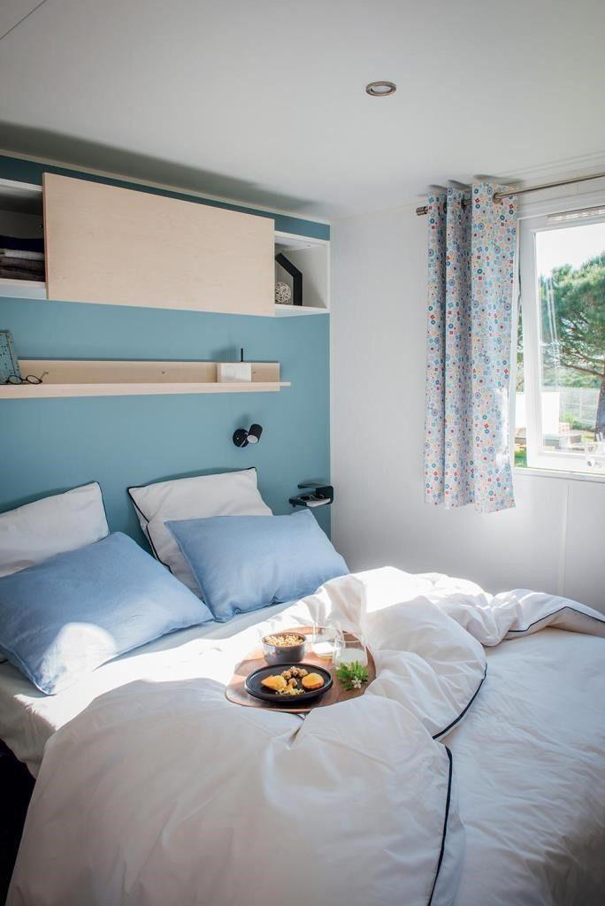 Camping Du Pouldu : location mobilhome 3 chambres chambre parents
