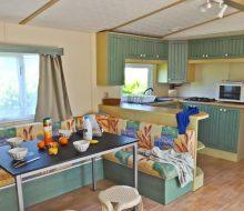 Camping Du Pouldu : mobilhome 4/6 personnes cuisine